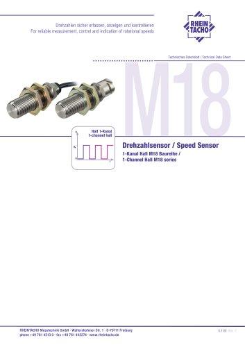Sensor: 1-Kanal Hall M18 Edelstahl Baureihe