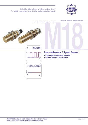 Sensor: 1-Kanal Hall M18 Messing Baureihe