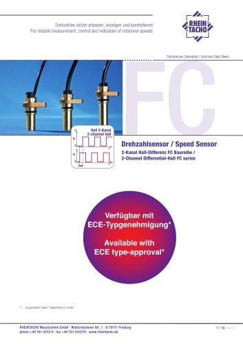 Sensor: 2-Kanal Hall-Differenz FC Baureihe
