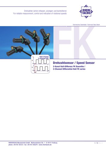 Sensor: 2-Kanal Hall-Differenz FK Baureihe