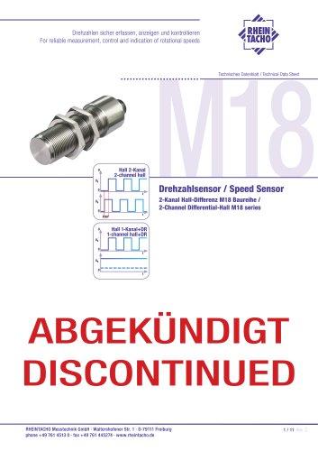 Sensor: 2-Kanal Hall-Differenz M18 Baureihe