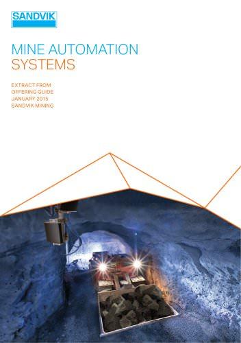 Sandvik mine automation system