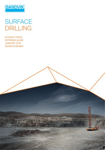 Sandvik surface drilling