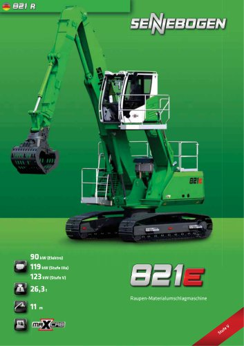 Materialumschlagmaschine 821 Raupe E-Serie - Green Line
