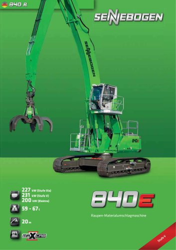Materialumschlagmaschine 840 Raupe E-Serie - Green Line