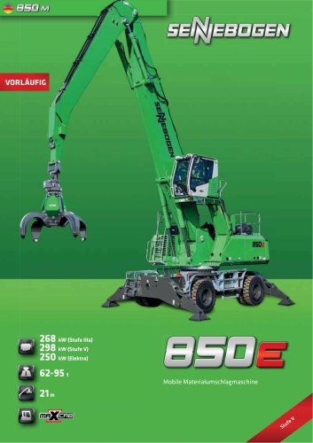 Materialumschlagmaschine 850 Mobil - Green Line