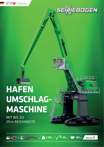 Materialumschlagmaschine 875 E-Serie - Green Line