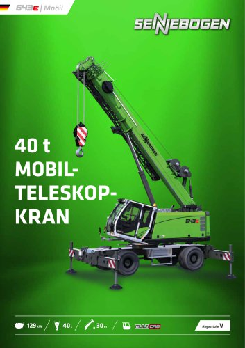 Teleskopkran 643 Mobil - Crane Line