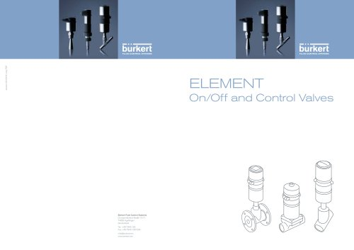 ELEMENT On/Off and Control Valves