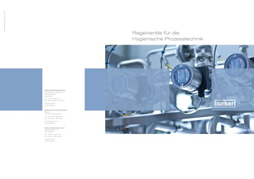Kompetenz-Folder Regelventile für die Hygienische Prozesstechnik_De