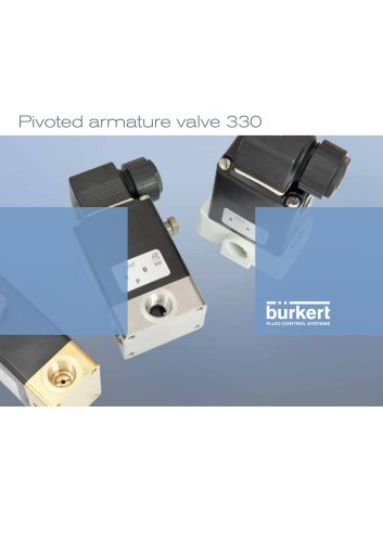 Pivoted armature valve 330