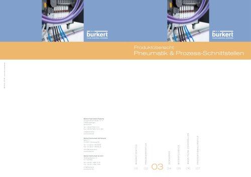 Produktübersicht Pneumatik