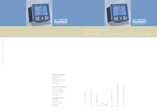 Produktübersicht Sensoren, Transmitter und Controller