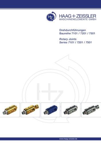 Drehdruchführungen Baureihe 7101 / 7201 / 7501