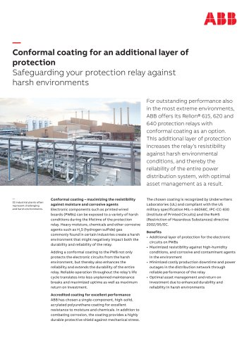 Conformal coating for an additional layer of protection Safeguarding your protection relay against harsh environments