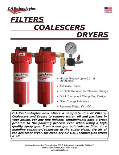 FILTERS COALESCERS DRYERS