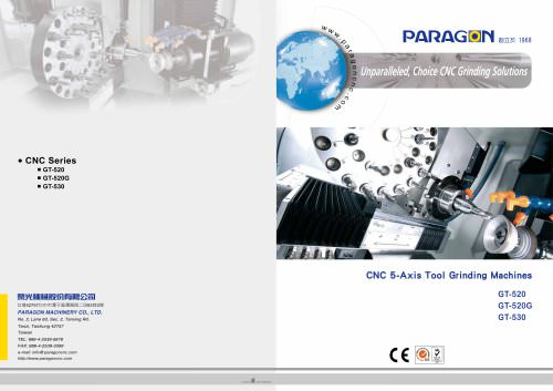 CNC 5-Axis Tool Grinding Machines