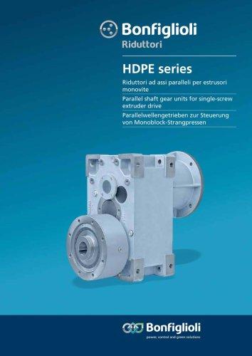 HDPE - Parallelwellengetrieben zur Steuerung von Monoblock-Strangpressen