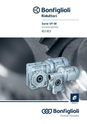 serie VF-W - Schneckengetrieben IE2-IE3