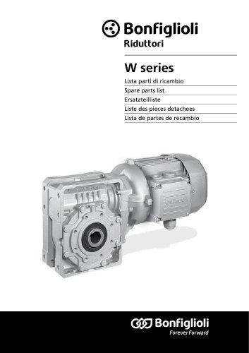 Spare parts list W Series