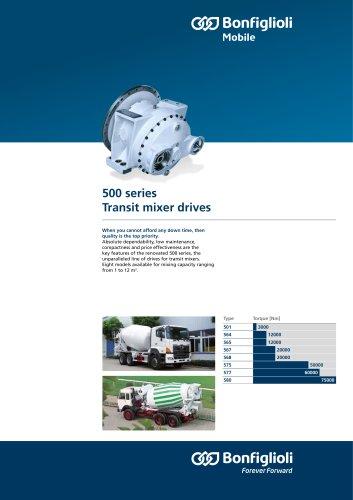Transit mixer drives - 500 Series