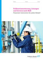 Feldinstrumentierung, Lösungen und Services nach Maß.