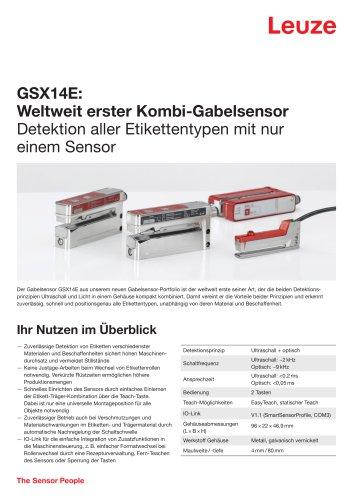 GSX14E Weltweit erster Kombi-Gabelsensor