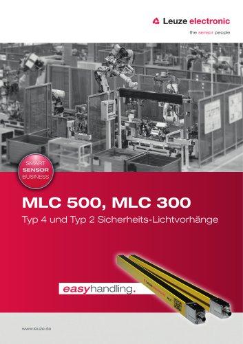 MLC 500, MLC 300 – Typ 4 und Typ 2 Sicherheits-Lichtvorhänge