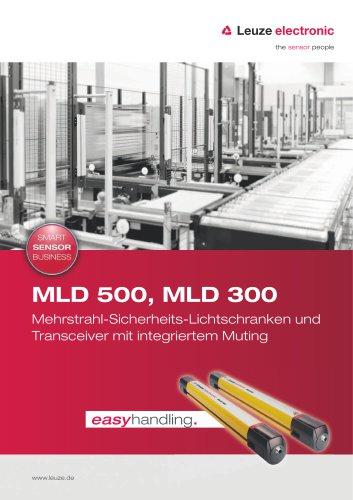 MLD 500, MLD 300 – Mehrstrahl-Sicherheits-Lichtschranken und Transceiver mit integriertem Muting