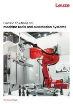 Sensor solutions for Machine Tools