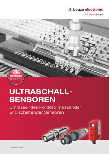 Ultraschall-Sensoren – Comprehensive product portfolio of measuring and switching sensors