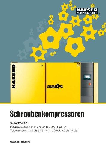 Gesamtkatalog Schraubenkompressoren Serie SX–HSD