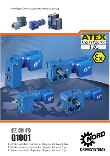Explosion proof drives, category 2G, zone 1, Gas UNICASE 50Hz, metric (G1001)