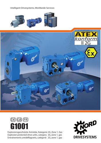 Explosionsgeschützte Antriebe, Kategorie 2G, Zone 1, Gas