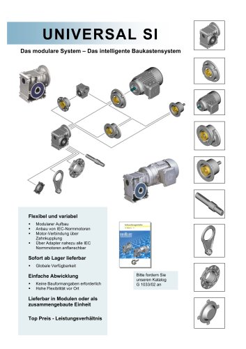 Universal Schneckengetriebe, Typ SD