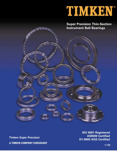 Precision Thin Section Instrument Ball Bearings