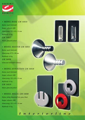 Magnetische Garderobehaken