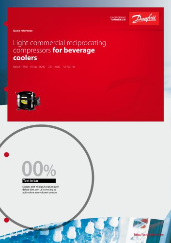 Beverage Coolers MBP R404A - R507 - R134a - R290 220 - 240V / 220-240V 50/60Hz