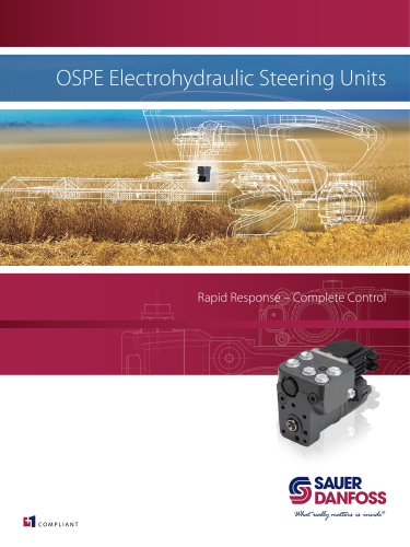 OSPE Electrohydraulic Steering Unit Rapid Response - Complete Control