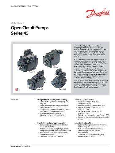 Series 45 Frame E, F, J, K/L Axial Piston Open Circuit Pump