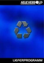 Neue Herbold - Lieferprogramm Zerkleinerungsmaschinen - Waschanlagen