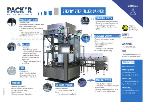 CHEMICALS STEP BY STEP FILLER CAPPER