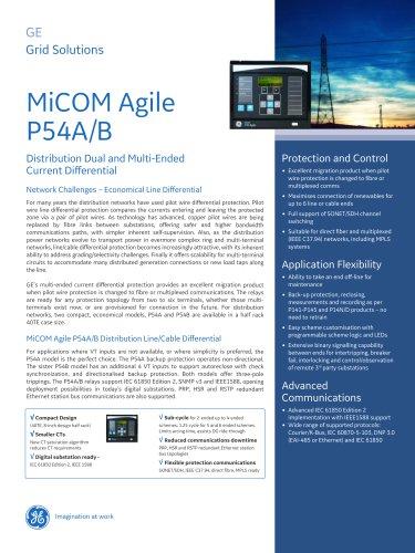 MiCOM Agile P54A/B