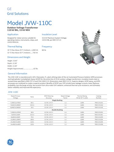 Model JVW-110C