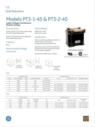 Models PT3-1-45 & PT3-2-45