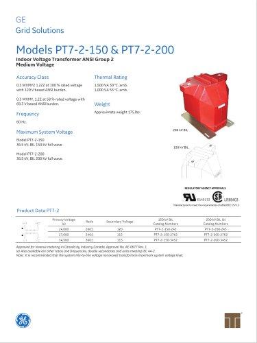 Models PT7-2-150 & PT7-2-200
