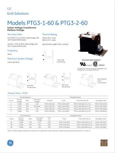 Models PTG3-1-60 & PTG3-2-60