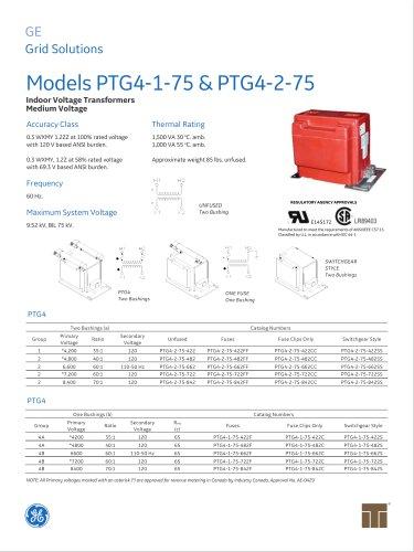 Models PTG4-1-75 & PTG4-2-75