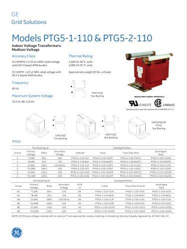 Models PTG5-1-110 & PTG5-2-110