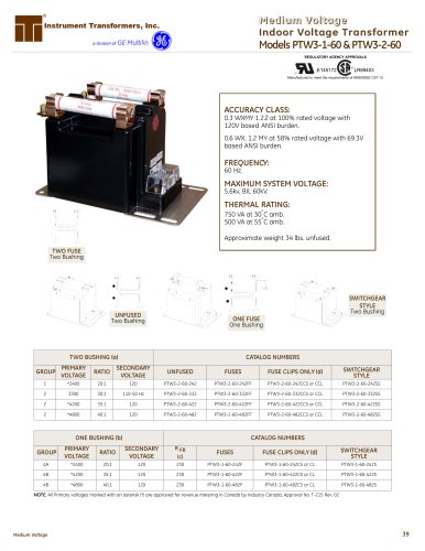 Models PTW3-1-60 & PTW3-2-60